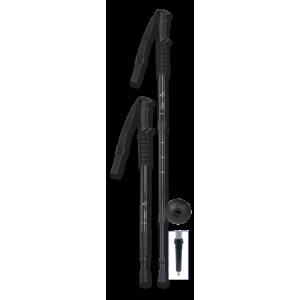 Μπατόν Ορειβασίας Πτυσσόμενο Μαύρο