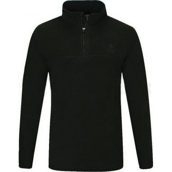 KLUANE HALF ZIP BLACK  Μπλουζες-Fleece